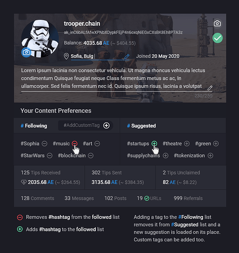 6. User Profile Integration (Settings Opened)